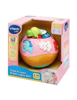 V Tech Crawl & Learn Bright Lights Ball Pink by Smyths