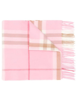 Cashmere Giant Check Scarf by Burberry