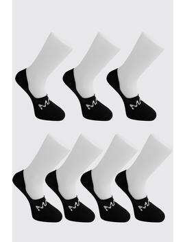 Man Dash Invisible 7 Pack Socks by Boohoo