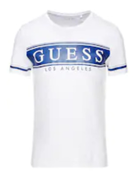 Banner Tee   T Shirt Med Print by Guess