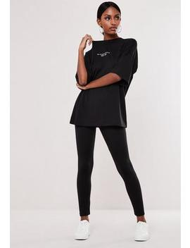Black Oversized T Shirt And Legging Co Ord Set by Missguided