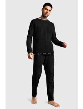 Man Crew Neck Sweater & Lounge Pants by Boohoo