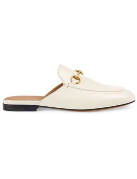 White Princetown Leather Mules by Gucci