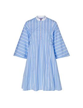 Rachel Striped Cotton Voile Mini Dress by Thierry Colson