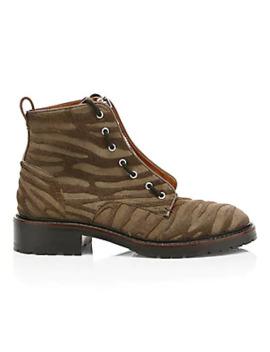 Cannon Zip Up Zebra Stripe Calf Hair Combat Boots by Rag & Bone