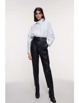 Bukse Med Skinneffekt Og Belte by Zara