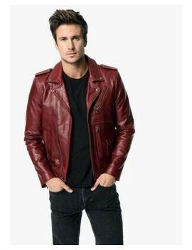 Joes Jeans Ty Chaqueta De Cuero (Rojo) Talla Xl by Ebay Seller