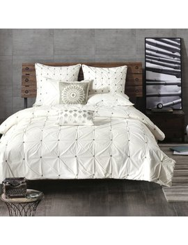 Leflore Elastic Embroidered Cotton Duvet Cover Set by Eider & Ivory