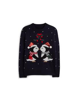 Penguin Kiss Christmas Jumper by Primark