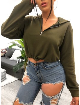 Aesha Hoodie (Olive) by Laura's Boutique