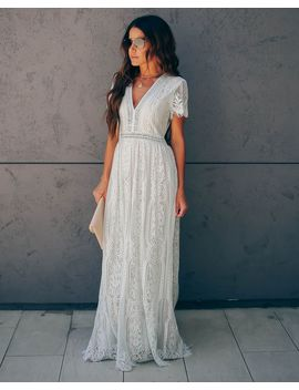 Fill Your Heart Lace Maxi Dress   Mint by Vici