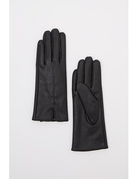 Faux Leather Touchscreen Gloves by Urban Planet