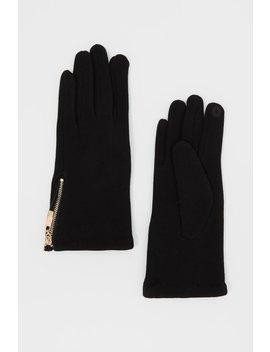 Touchscreen Zipper Gloves by Urban Planet
