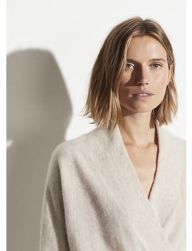 Boiled Cashmere Wrap Front Pullover by Vince