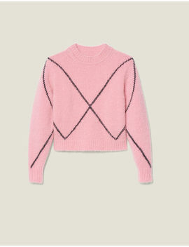 Mohair Jacquard Sweater by Sandro Eshop