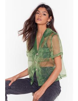 We Can See Through You Organza Cropped Shirt by Nasty Gal