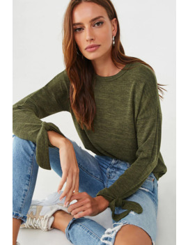 Marled French Terry Top by Forever 21