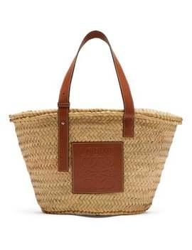 Medium Raffia Basket Bag by Loewe