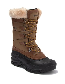 Shellback Waterproof Faux Fur Lace Up Snow Boot by Kamik