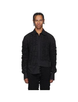 Black Edward Shirt by Bianca Saunders