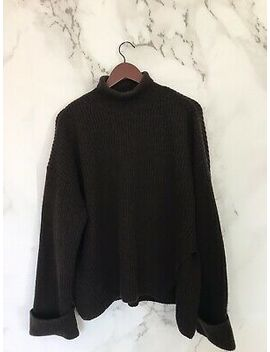 Stockholm Atelier & Other Stories Womens Sweater Size S Brown Chunky Turtleneck by Ebay Seller