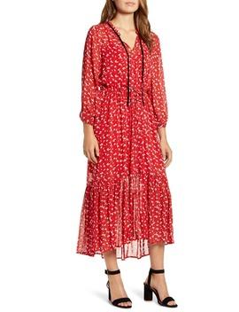 Ryan Floral Ruffle Hem Georgette Dress by Lucky Brand