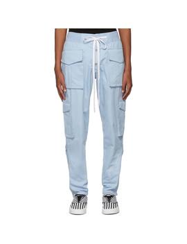 Blue Snap Cargo Pants by Nahmias