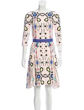 Abstract Print Knee Length Dress by Peter Pilotto