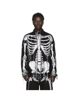 Black & White William De Morgan Skeleton Turtleneck by Loewe