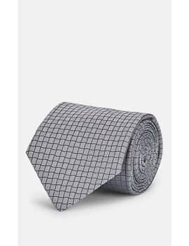 Basket Weave Pattern Silk Jacquard Necktie by Isaia