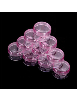 5 Pcs 5g Portable Cosmetic Empty Jar Pot Eyeshadow Case Makeup Face Cream Container Box Cosmetic Clear Bottles Accessories Pink by Ali Express.Com