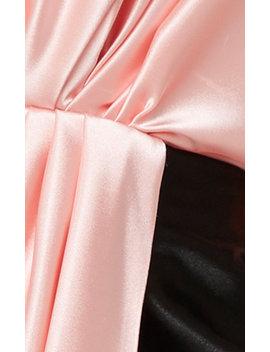 Contrasting Draped Mini Dress by Mach & Mach