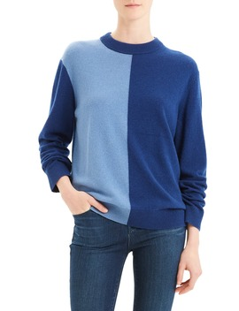 Colorblock Cashmere Sweater by Theory