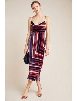 Tina Velvet Mini Dress by Anthropologie
