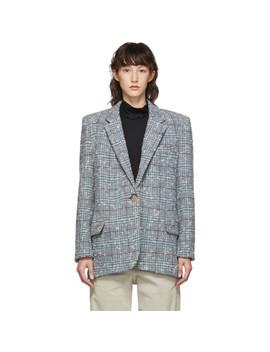 Grey & Blue Wool Korix Blazer by Isabel Marant Etoile