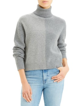 Colorblock Cashmere Turtleneck Sweater by Theory