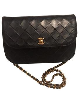 Double Flap Crossbody Lambskin Quilted Diamond Stitch Half Moon Turnlock Shoulder Bag by Chanel