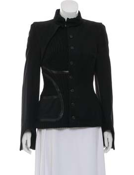 Asymmetrical Neck Long Sleeve Jacket by Alexander Mc Queen