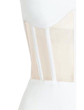 Sleeveless Crepe Corset Midi Dress by Rasario