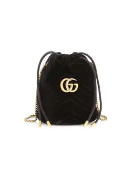 Gg Marmont 2.0 Velvet Mini Bucket Bag by Gucci