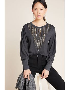 Chiara Sequined Top by Tiny