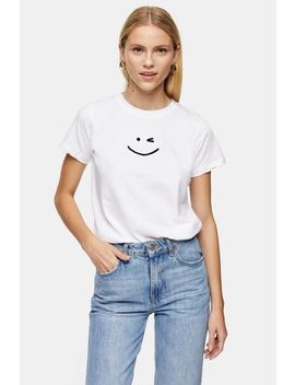 Wink Face T Shirt by Topshop