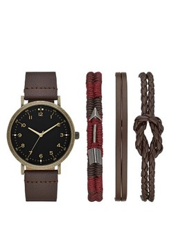Men's Easy Read Strap Watch Set   Goodfellow & Co™ Brown by Goodfellow & Co