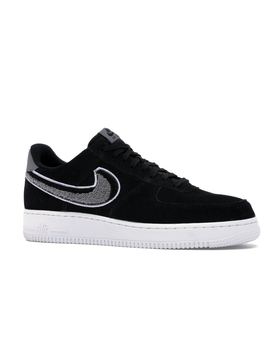 Air Force 1 Low 3 D Chenille Swoosh Black Cool Grey by Stock X