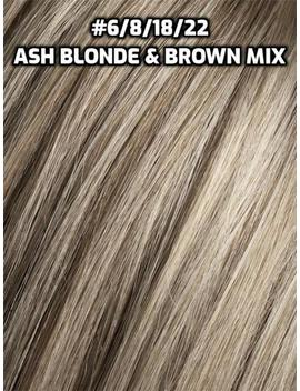 100% Human Hair Flip In(Halo) Extension Hand Made Ash Blonde And Brown Mix Lowlights by Etsy