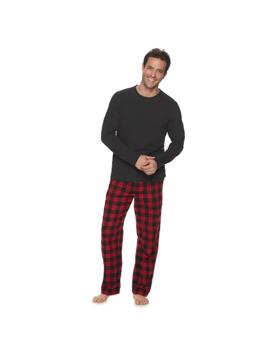 Men's Croft & Barrow® Long Sleeve Tee & Flannel Pant Set by Croft & Barrow