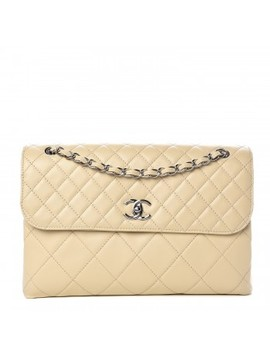 Chanel Calfskin Quilted In The Business Flap Bag Beige Clair by Chanel