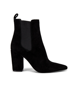 Subtle Bootie In Black Suede by Steve Madden
