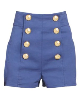 High Rise Buttoned Shorts by Balmain