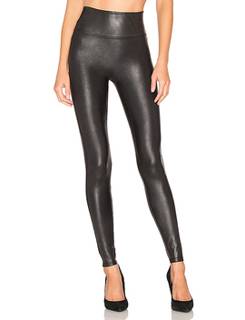 Faux Leather Leggings In Black by Spanx